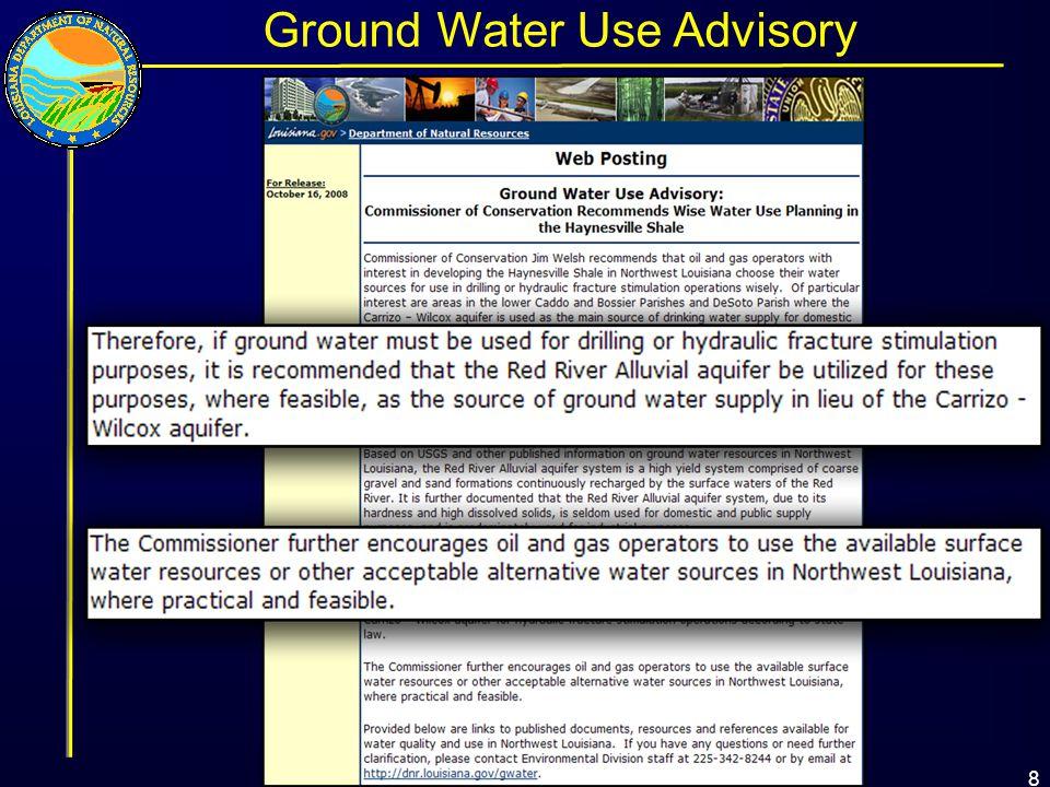 8 Ground Water Use Advisory