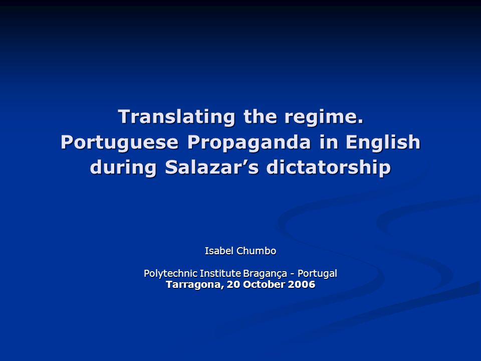 Translating the regime.