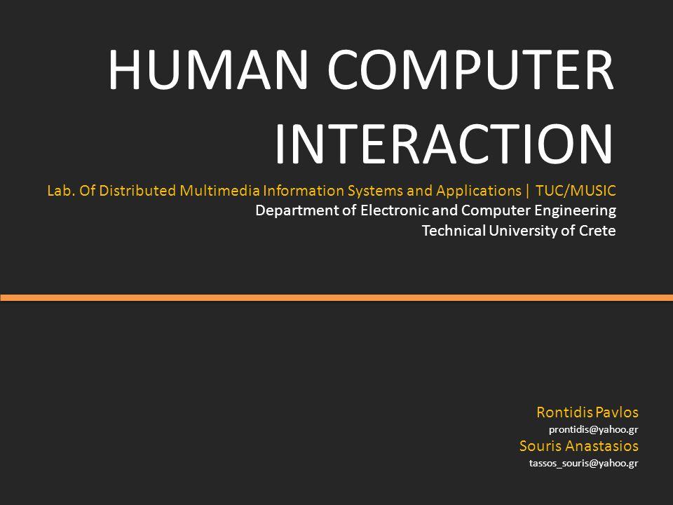 HUMAN COMPUTER INTERACTION Lab.