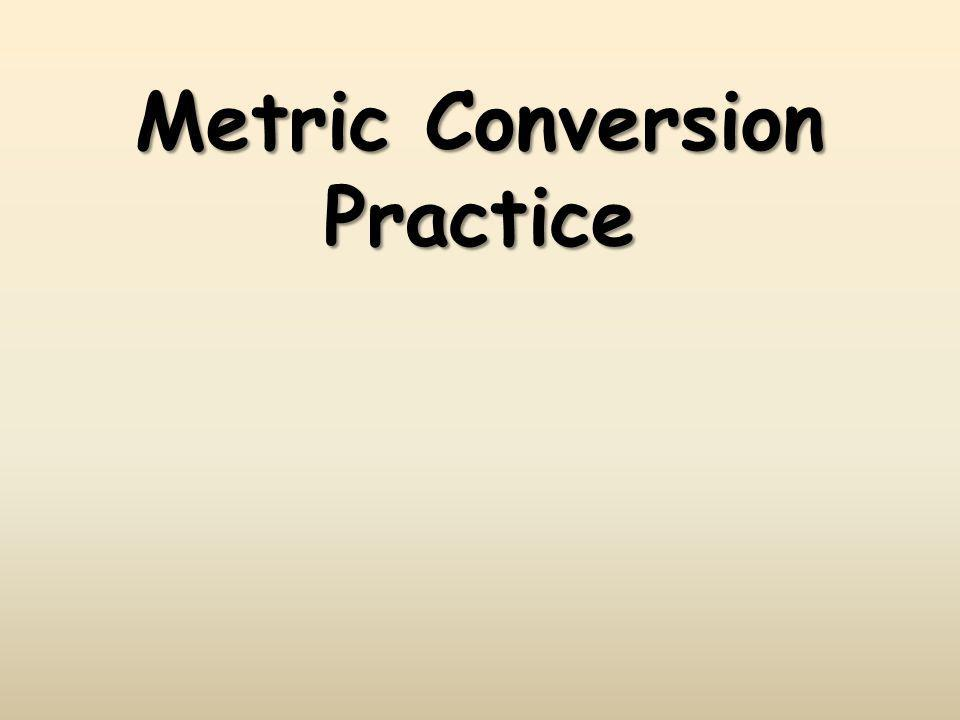 Metric Conversions gmL 10 -1 10 -2 10 -3 10 1 10 2 10 3 Baseunit decicentimillidekahectokilo gmL Conversions in the metric system are merely a matter of moving a decimal point.