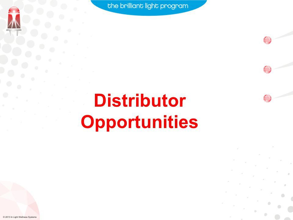 Distributor Opportunities
