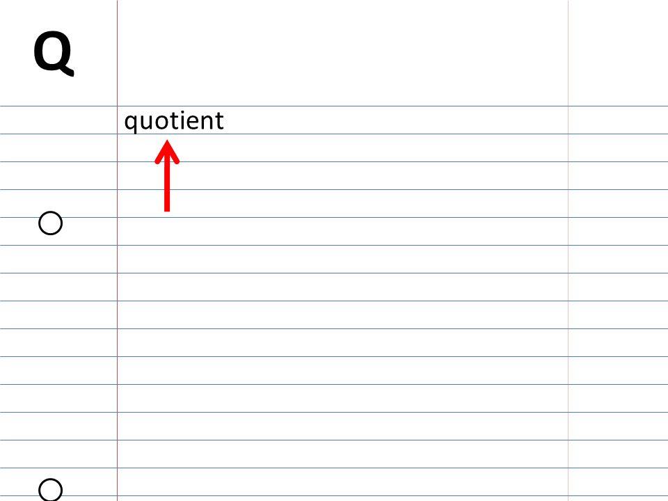 Q quotient
