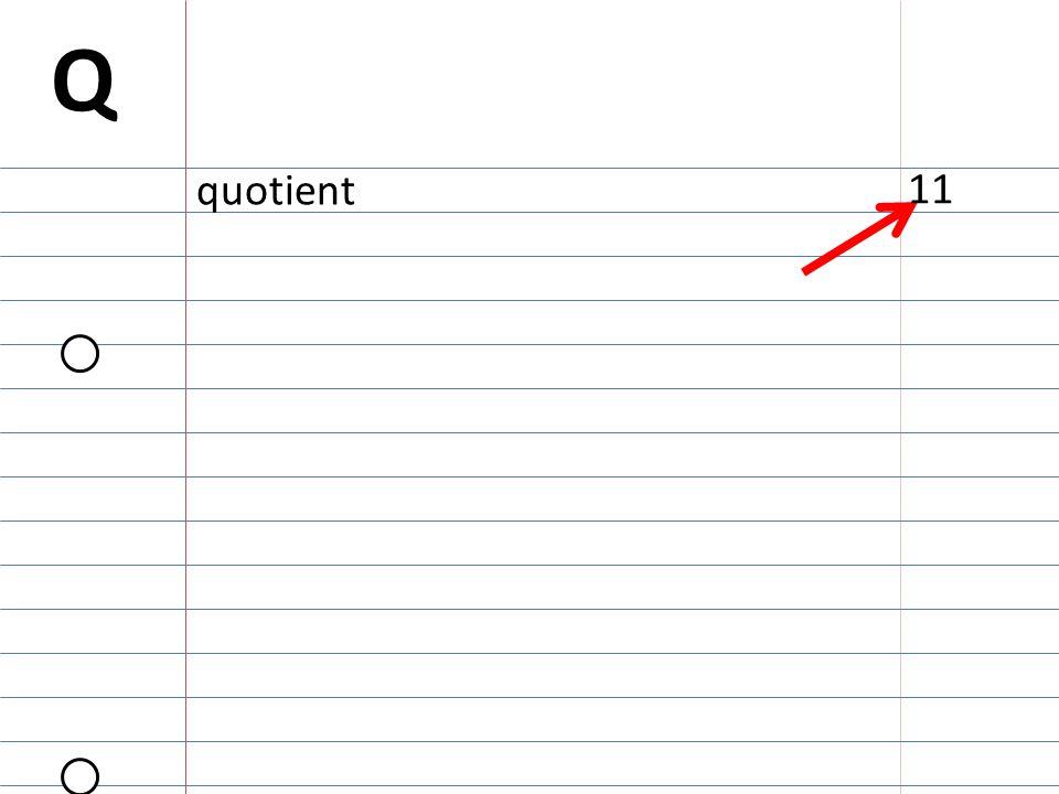 Q quotient 11