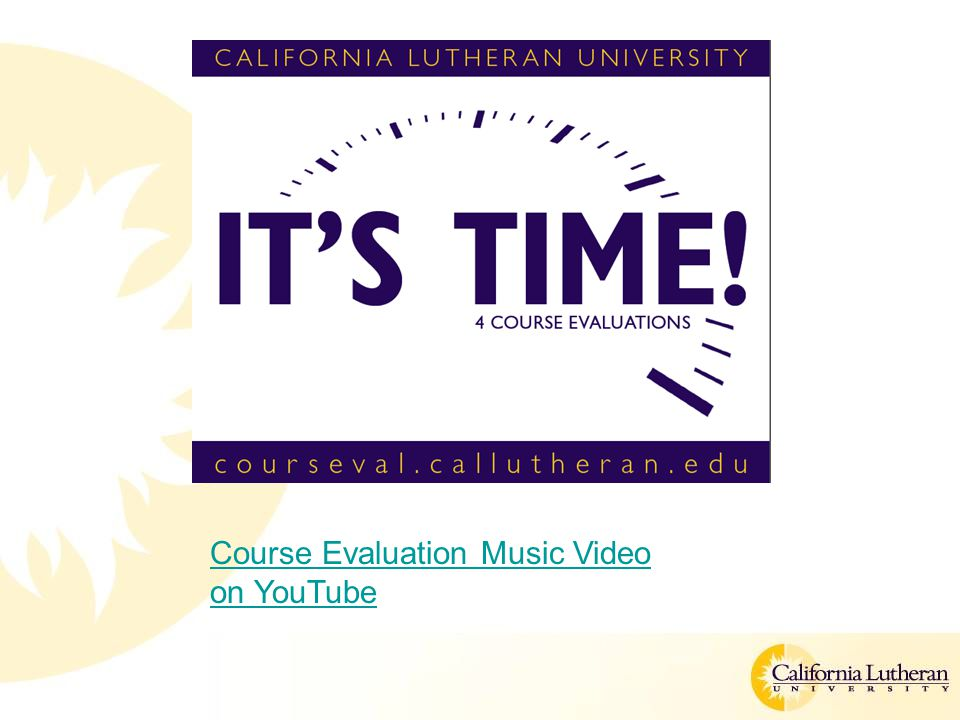 Course Evaluation Music Video on YouTube