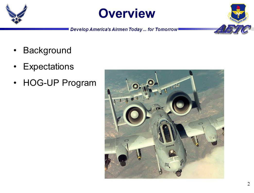 2 Overview Background Expectations HOG-UP Program