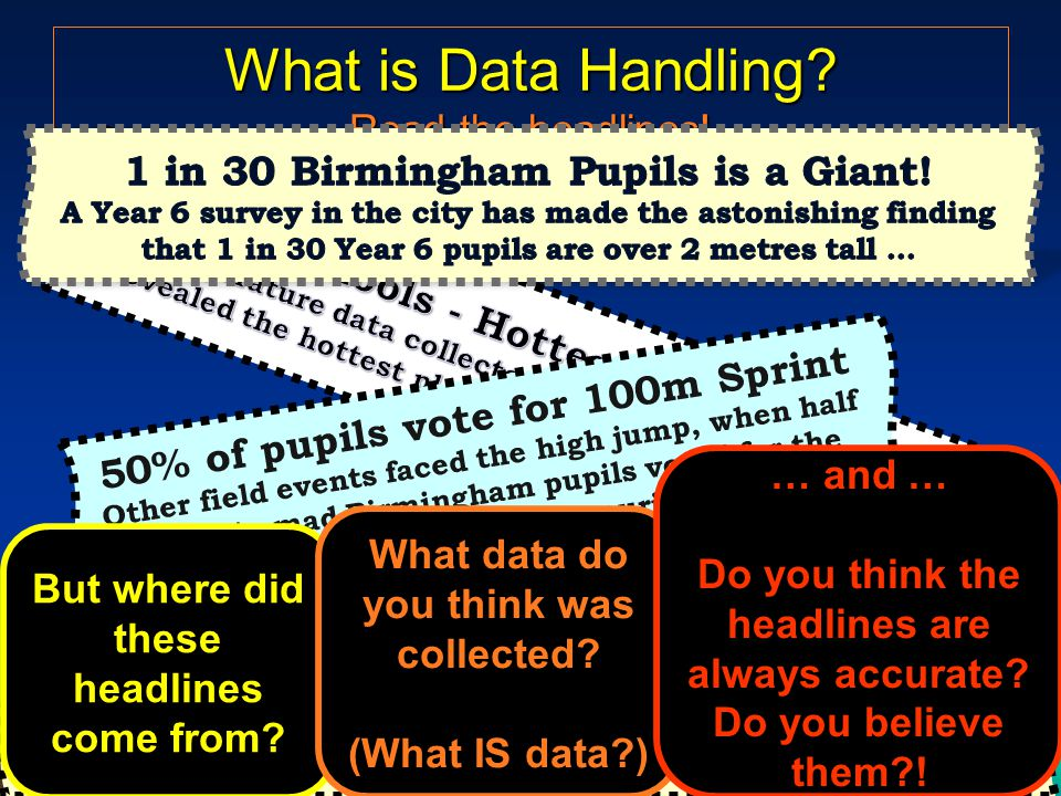 What is Data Handling. Read the headlines.