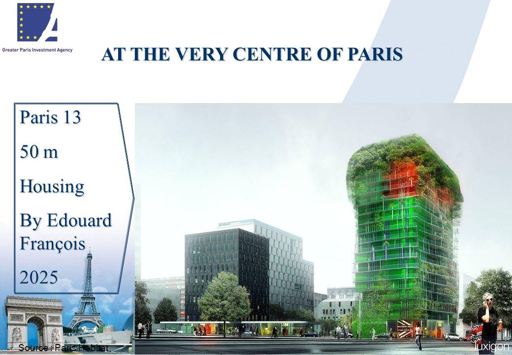 16 Paris 13 50 m Housing By Edouard François 2025 Source : Paris Habitat AT THE VERY CENTRE OF PARIS