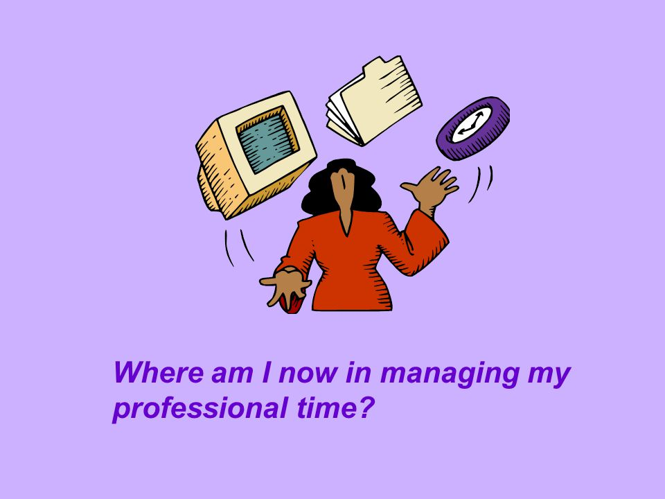Where am I now in managing my professional time?
