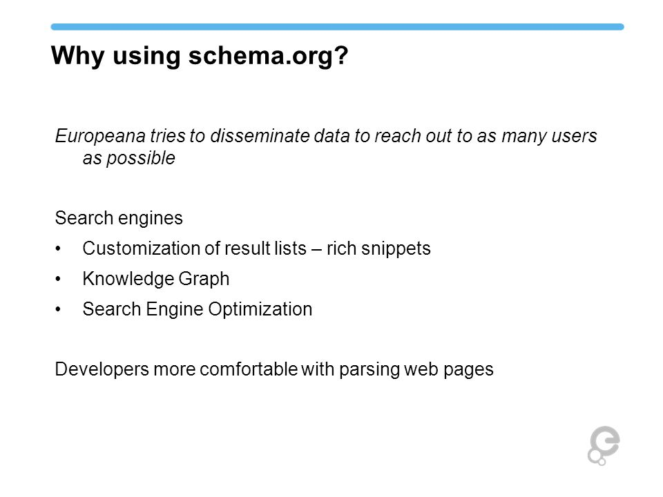 Why using schema.org.