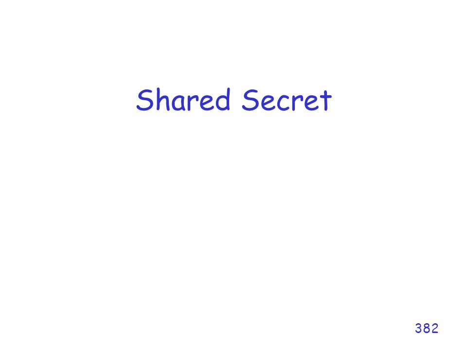 Shared Secret 382