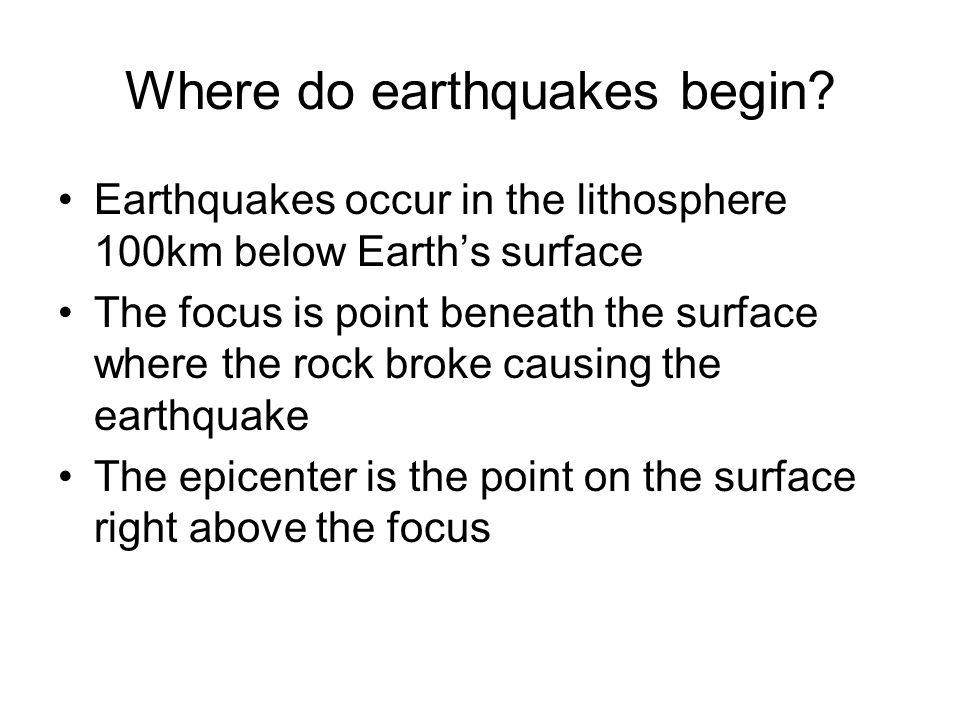 Where do earthquakes begin.