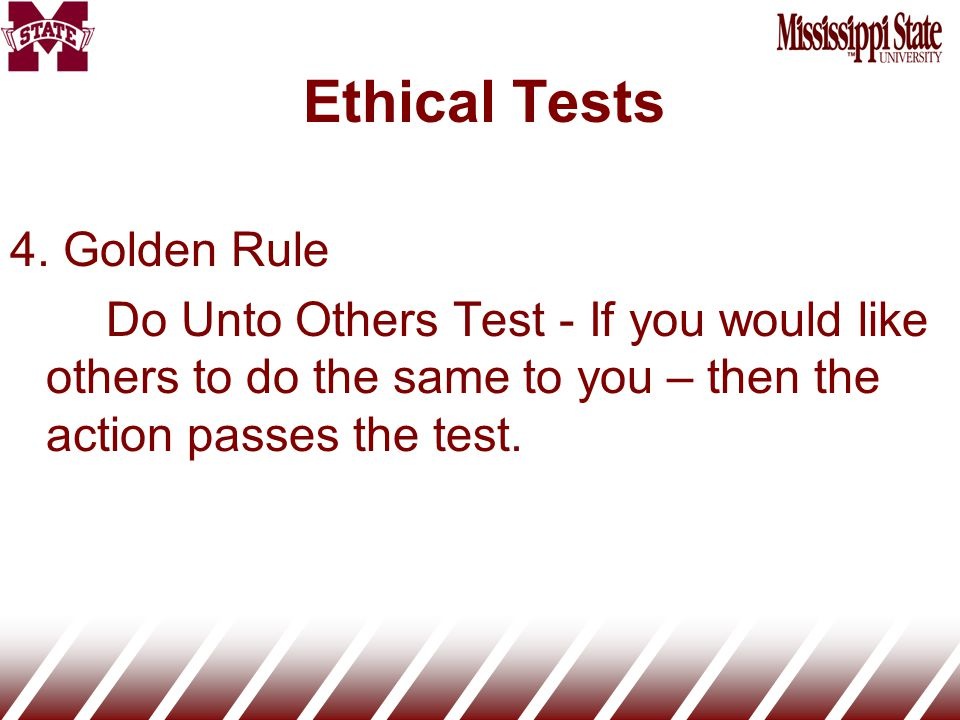 Ethical Tests 4.