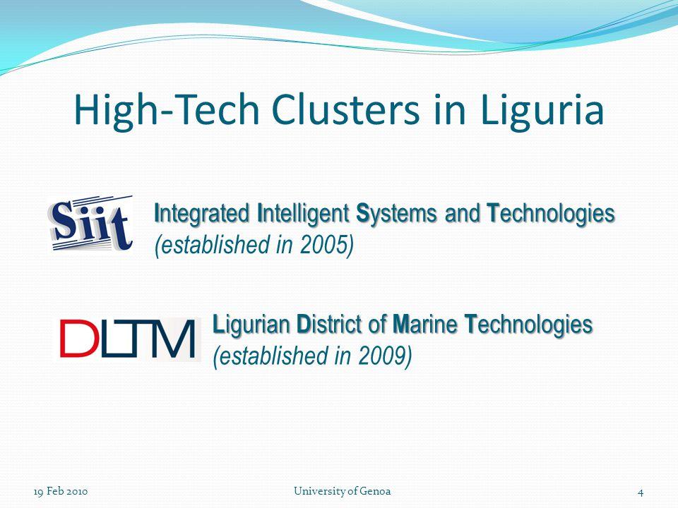 19 Feb 2010University of Genoa5 - Consortium Structure