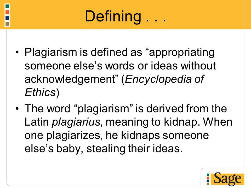 Defining...