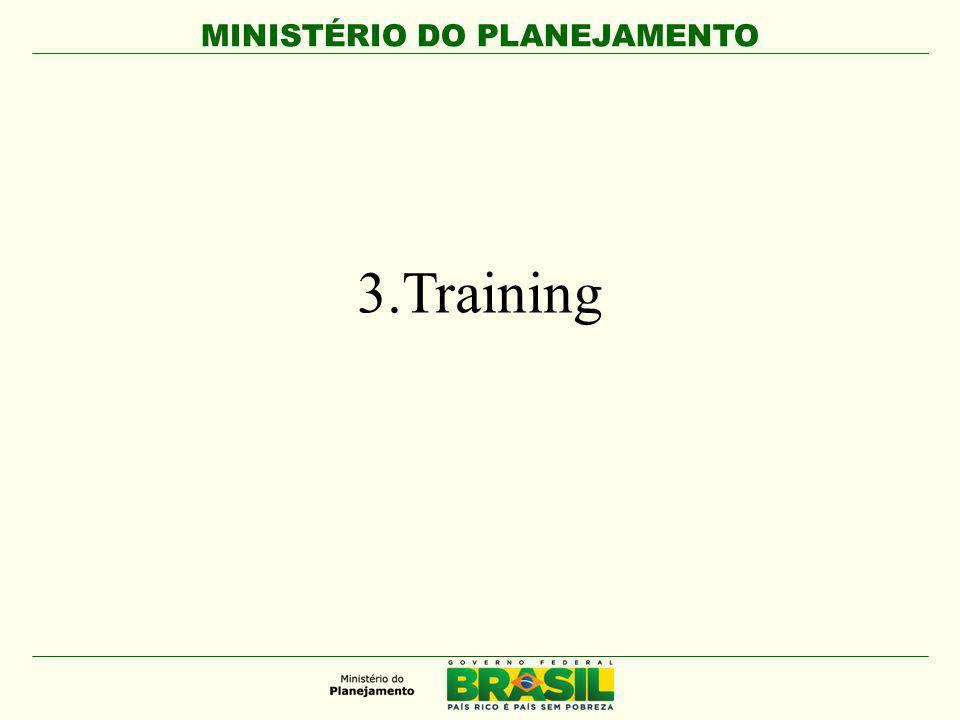 MINISTÉRIO DO PLANEJAMENTO 3.Training