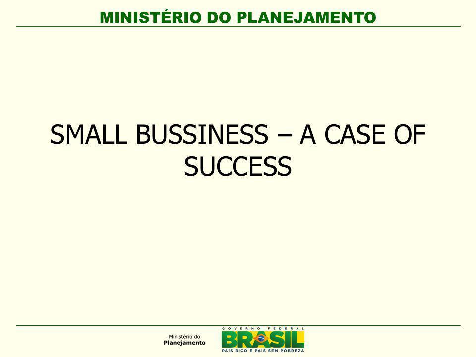 MINISTÉRIO DO PLANEJAMENTO SMALL BUSSINESS – A CASE OF SUCCESS