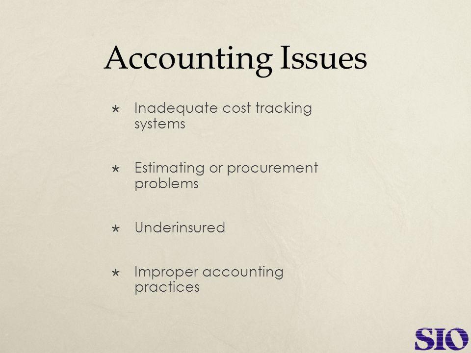 Poor Estimating & Job Cost Reporting  Revenue & margins decrease  Continued operating losses  Loss of bonding capacity  Bid jobs too low