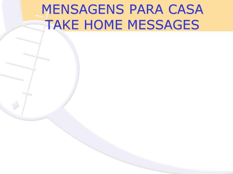 MENSAGENS PARA CASA TAKE HOME MESSAGES