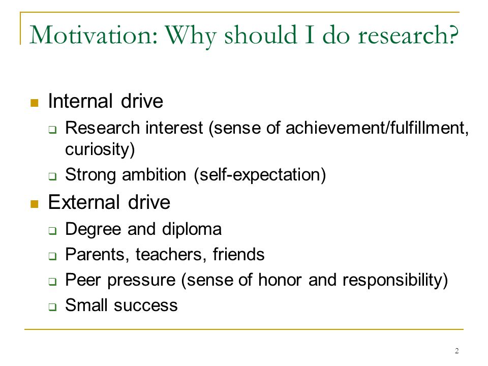 33 Research Problem Selection Good research largely depends on the selected problem  90% of a research job is done when you find a good problem.
