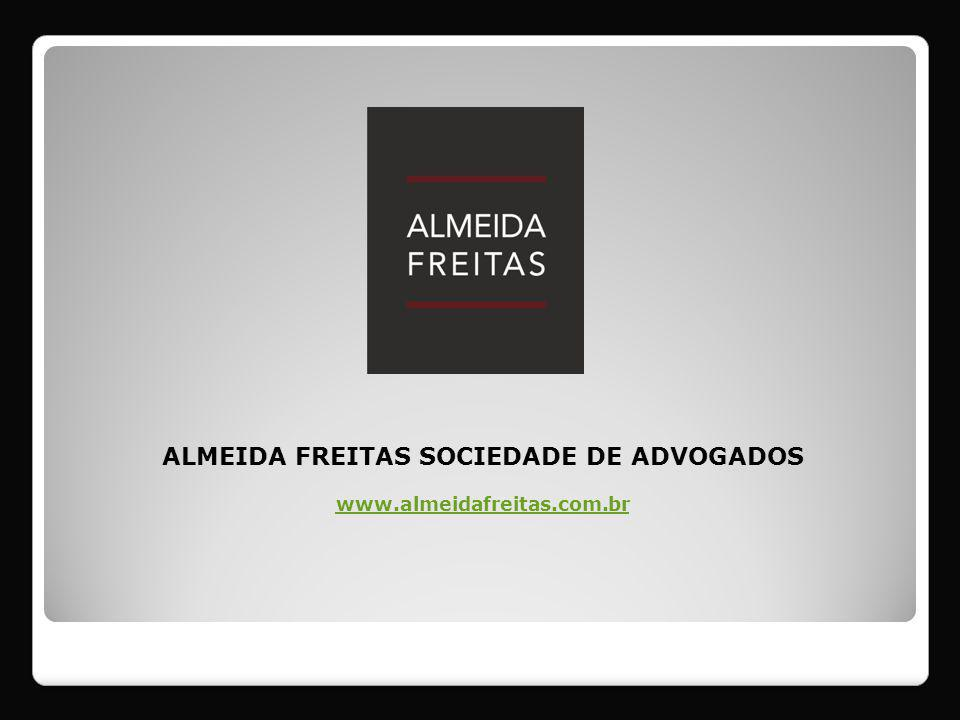 Innovative Solutions + Quick and Effective Responses + Concern with Ethical Values + High quality of its professionals and services + Competitive Legal Fees = ALMEIDA FREITAS: A TRUE PARTNER TO CLIENTS Our Difference: with a commercial culture attentive to market variations, and with a personal and transparent service, ALMEIDA FREITAS has its headquarters in the city of Sao Paulo, and focus on providing front-line legal services.