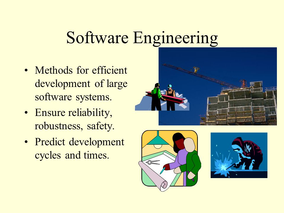 Software Engineering Methods for efficient development of large software systems.