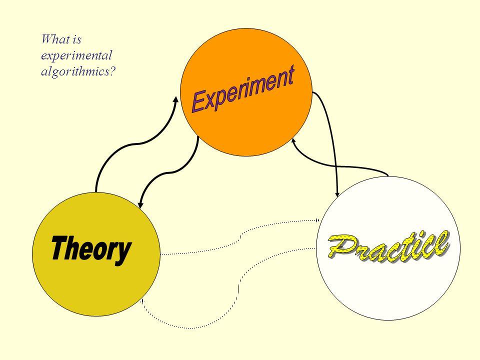 What is experimental algorithmics