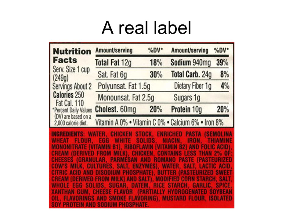 A real label