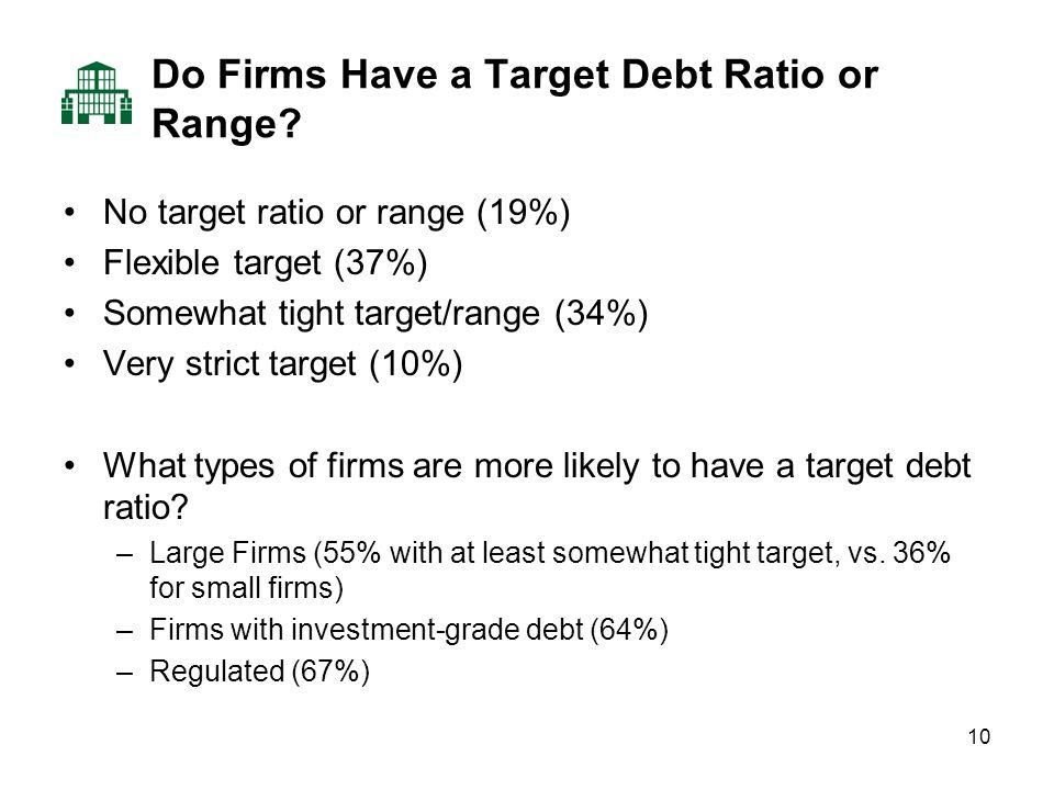 10 Do Firms Have a Target Debt Ratio or Range.