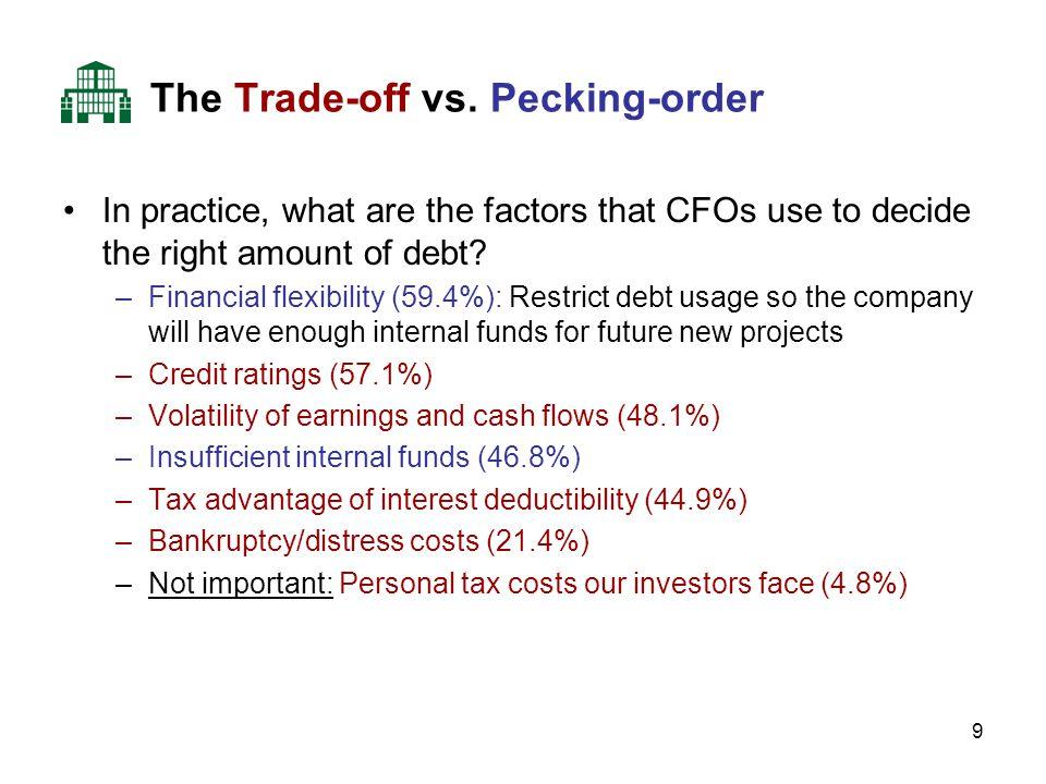 9 The Trade-off vs.