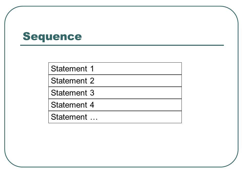 Sequence Statement 1 Statement 2 Statement 3 Statement 4 Statement …