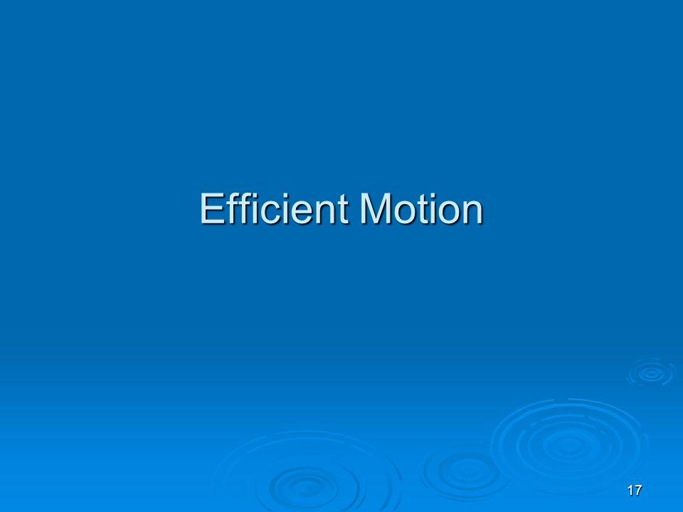 17 Efficient Motion