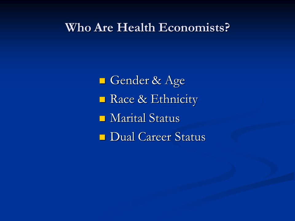 How Are Health Economists Employed.