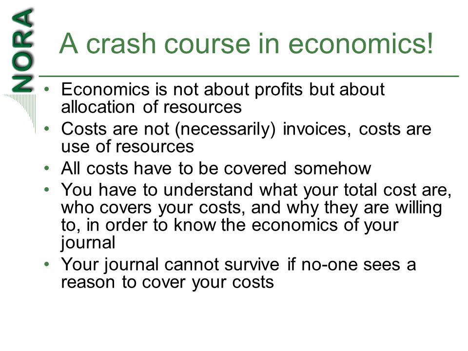 A crash course in economics.