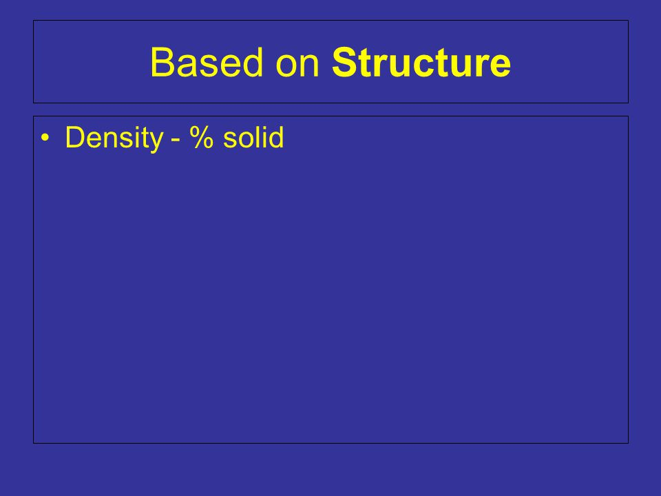 Density - % solid