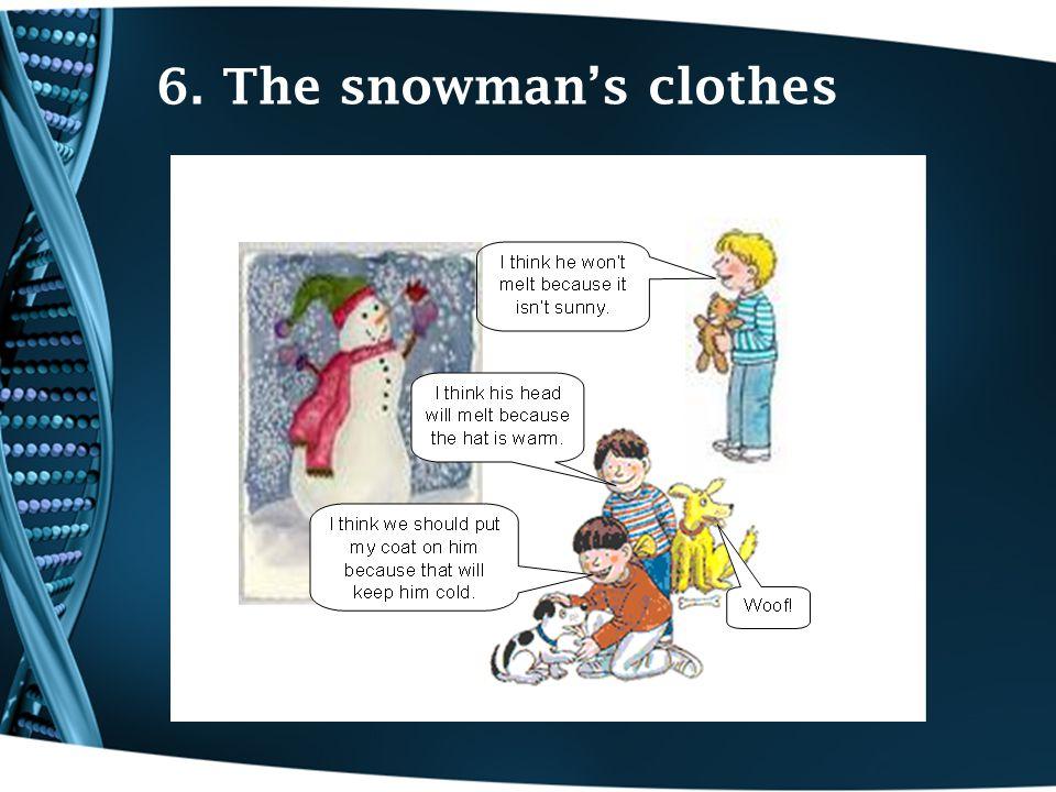 6. The snowman's clothes