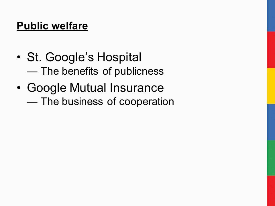 Public welfare St.