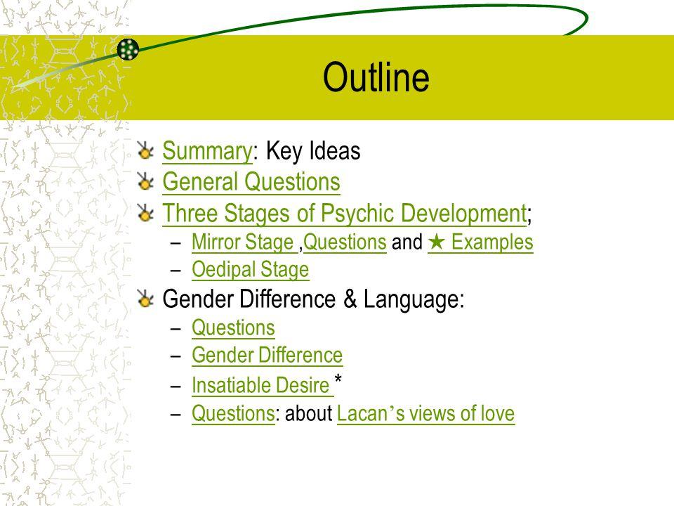 Summary of Key Ideas Chap 3: pp.