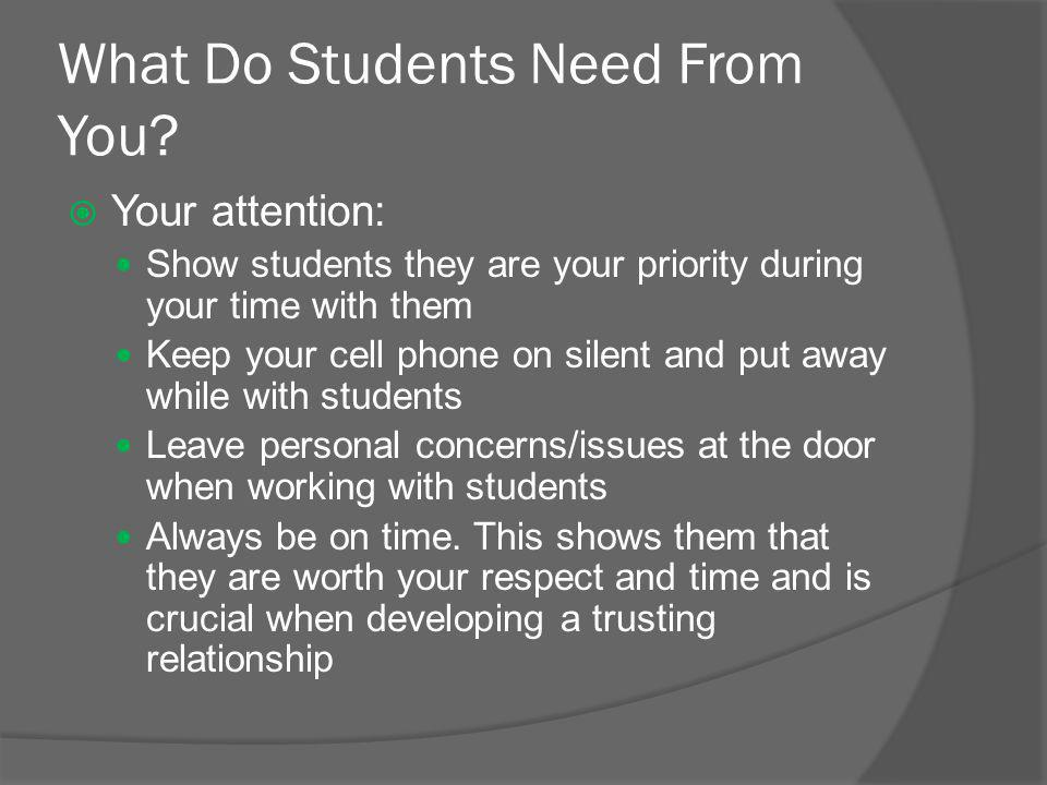 What Do Students Need From You.