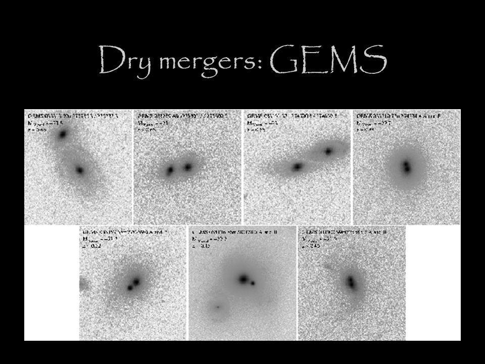 Dry mergers: GEMS