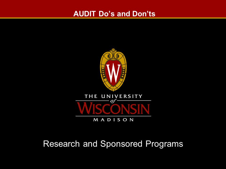 Research and Sponsored Programs Audit guidelines 1.