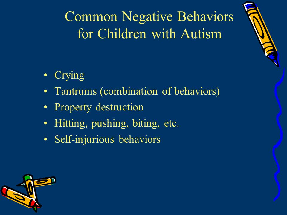 Attention Seeking: Minor Negative Behaviors Other possible causes of minor negative behaviors Weak expressive language Provide mand training Manding is asking for reinforcers with words, signs, or PECS It is often very easy to teach a child to mand (see Sundberg & Partington, 1998)