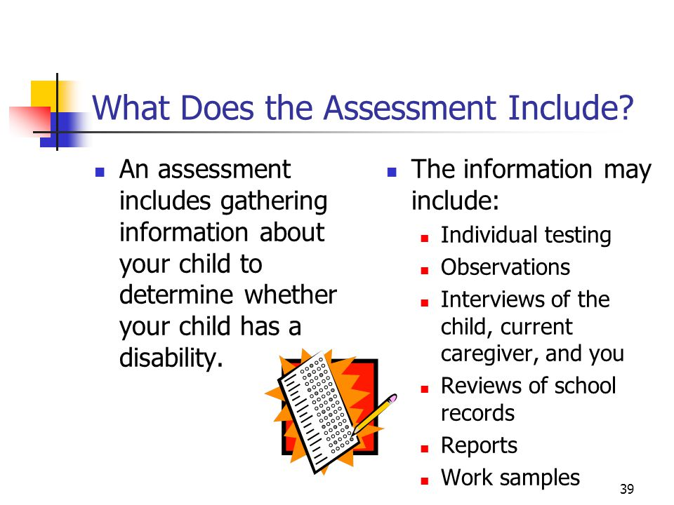 39 What Does the Assessment Include.