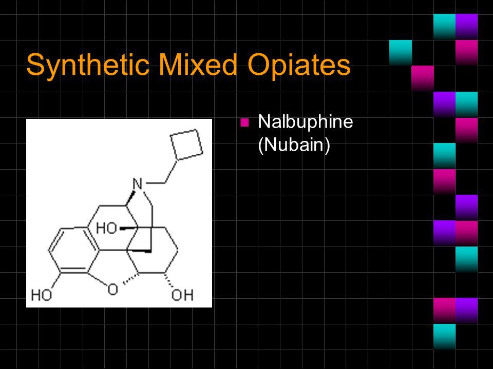 Synthetic Mixed Opiates n Nalbuphine (Nubain)