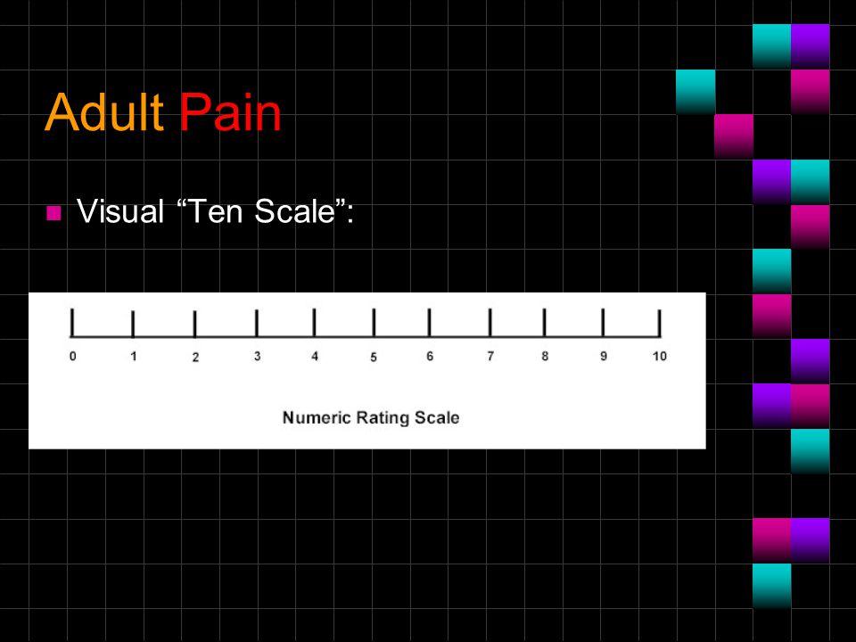 Adult Pain n Visual Ten Scale :