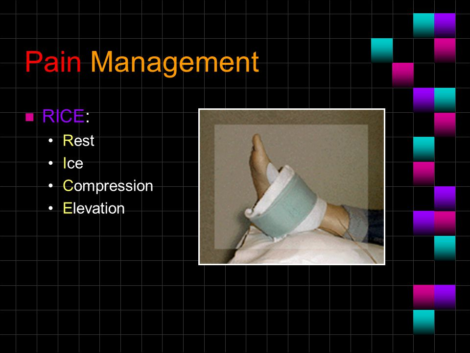Pain Management n RICE: Rest Ice Compression Elevation