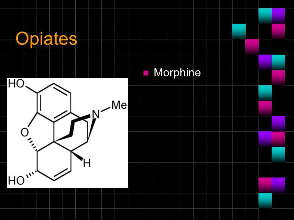 Opiates n Morphine