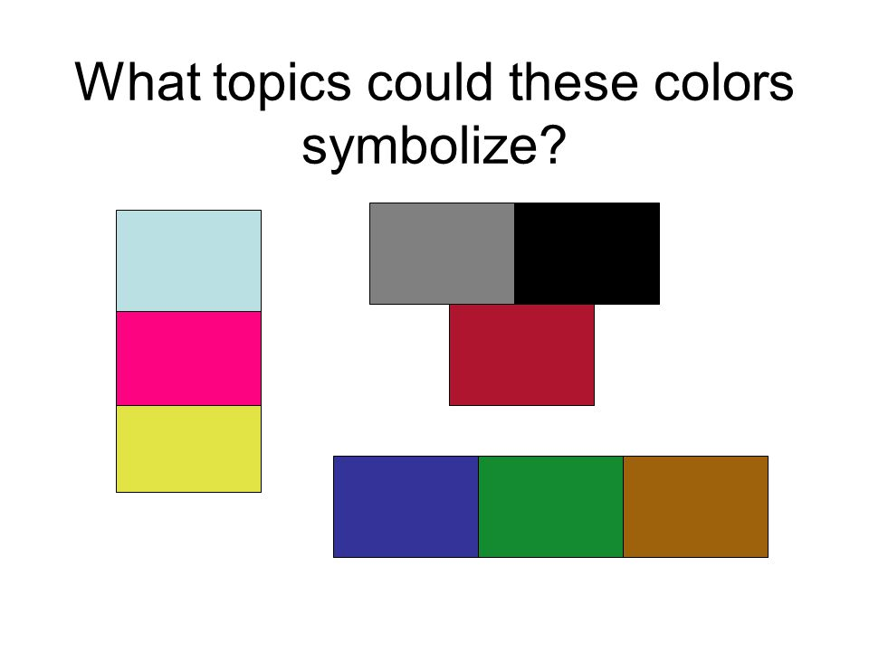 What topics could these colors symbolize