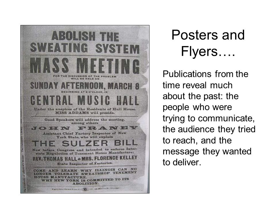 Posters and Flyers….