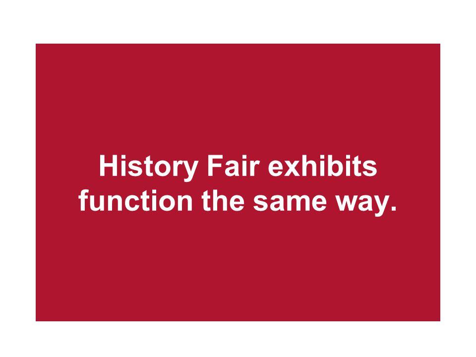 History Fair exhibits function the same way.