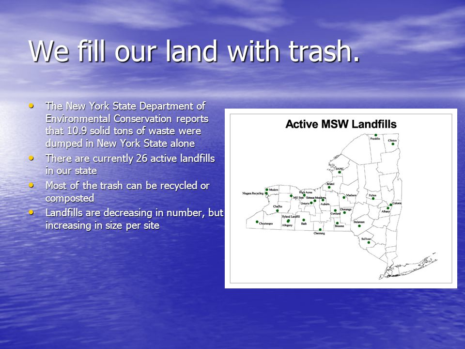 We fill our land with trash.